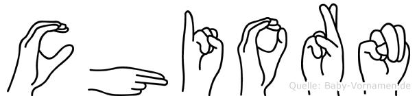 Chiorn in Fingersprache für Gehörlose
