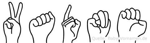 Vadne in Fingersprache für Gehörlose