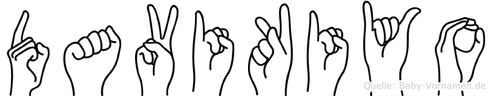 Davikiyo in Fingersprache für Gehörlose