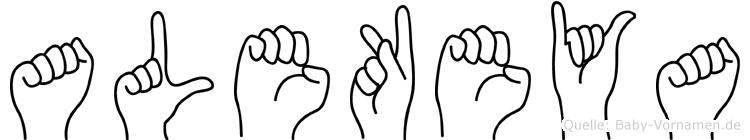 Alekeya im Fingeralphabet der Deutschen Gebärdensprache