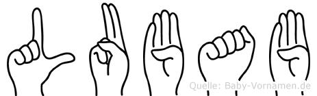 Lubab im Fingeralphabet der Deutschen Gebärdensprache