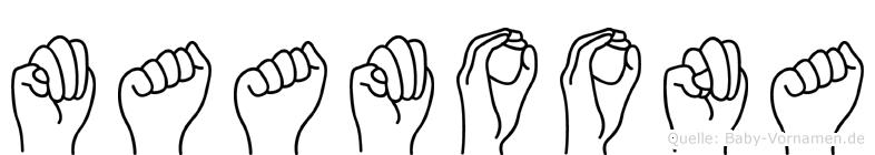 Maamoona in Fingersprache für Gehörlose