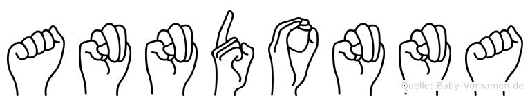 Anndonna im Fingeralphabet der Deutschen Gebärdensprache