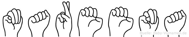 Mareena im Fingeralphabet der Deutschen Gebärdensprache
