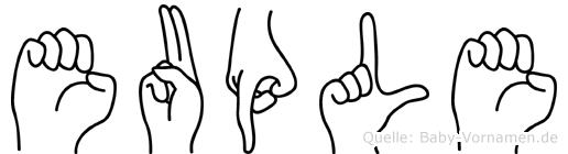 Euple in Fingersprache für Gehörlose
