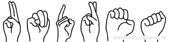 Undrea in Fingersprache für Gehörlose