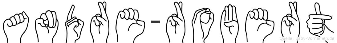 Andre-Robert im Fingeralphabet der Deutschen Gebärdensprache