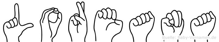 Loreana im Fingeralphabet der Deutschen Gebärdensprache