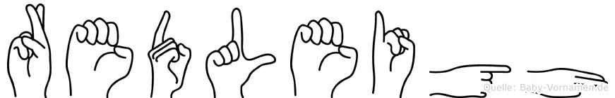 Redleigh in Fingersprache für Gehörlose