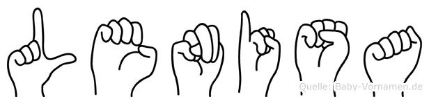 Lenisa im Fingeralphabet der Deutschen Gebärdensprache