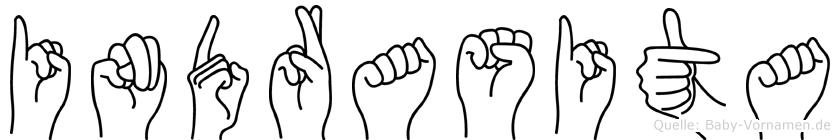 Indrasita im Fingeralphabet der Deutschen Gebärdensprache