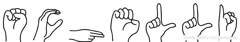 Schelli im Fingeralphabet der Deutschen Gebärdensprache