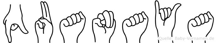 Quanaya im Fingeralphabet der Deutschen Gebärdensprache