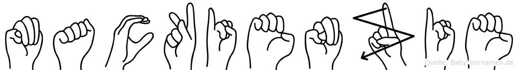 Mackienzie im Fingeralphabet der Deutschen Gebärdensprache