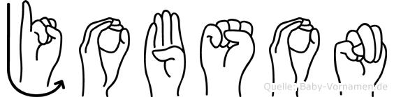 Jobson in Fingersprache für Gehörlose