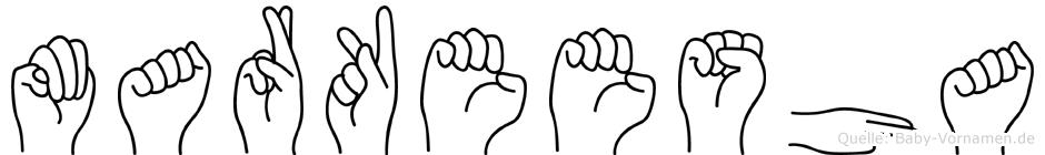 Markeesha in Fingersprache für Gehörlose