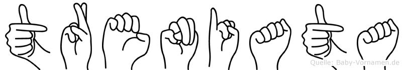 Treniata in Fingersprache für Gehörlose