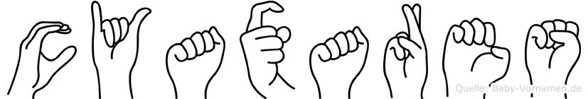 Cyaxares in Fingersprache für Gehörlose
