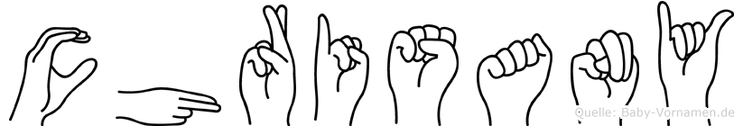 Chrisany in Fingersprache für Gehörlose