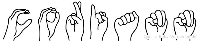 Coriann in Fingersprache für Gehörlose