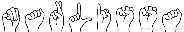 Marlissa in Fingersprache für Gehörlose