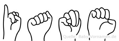 Iane in Fingersprache für Gehörlose