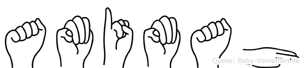 Amimah in Fingersprache für Gehörlose