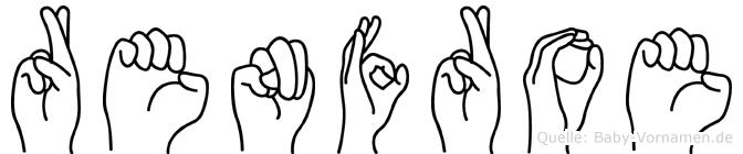Renfroe im Fingeralphabet der Deutschen Gebärdensprache