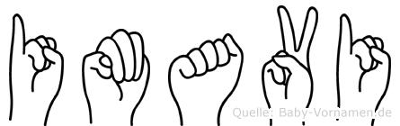 Imavi im Fingeralphabet der Deutschen Gebärdensprache