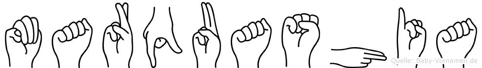 Marquashia in Fingersprache für Gehörlose