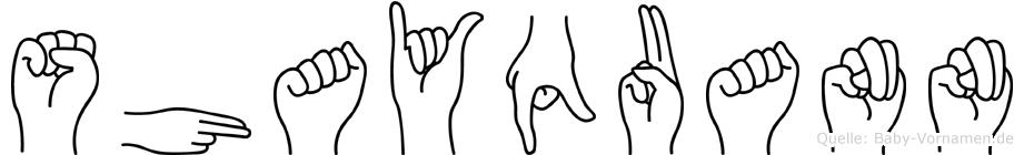 Shayquann in Fingersprache für Gehörlose