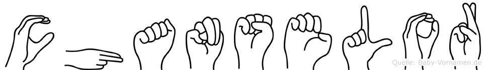 Chanselor im Fingeralphabet der Deutschen Gebärdensprache