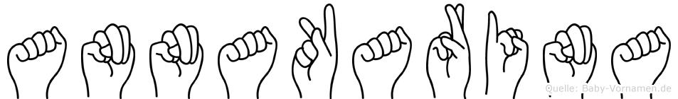 Annakarina im Fingeralphabet der Deutschen Gebärdensprache