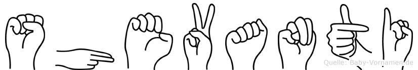Shevanti in Fingersprache für Gehörlose