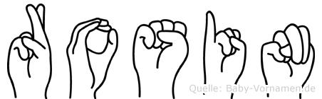 Rosin in Fingersprache für Gehörlose