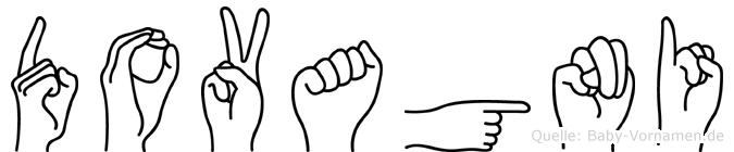 Dovagni in Fingersprache für Gehörlose