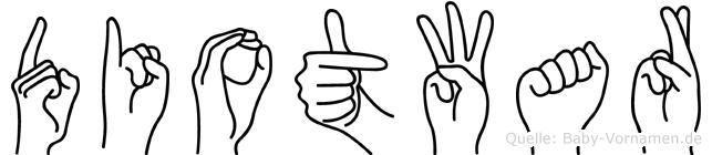 Diotwar in Fingersprache für Gehörlose
