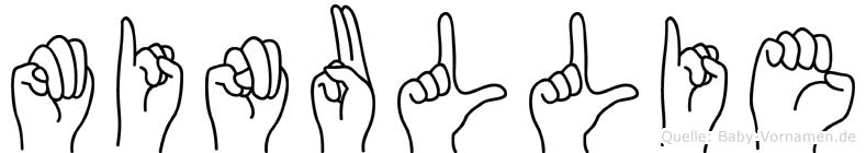 Minullie in Fingersprache für Gehörlose