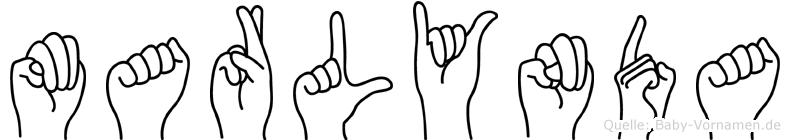 Marlynda in Fingersprache für Gehörlose