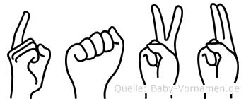 Davu in Fingersprache für Gehörlose