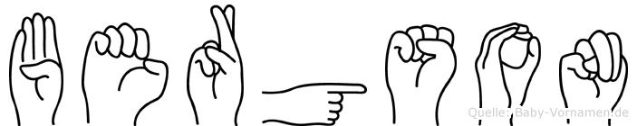Bergson in Fingersprache für Gehörlose