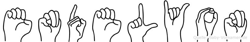 Endelyon im Fingeralphabet der Deutschen Gebärdensprache