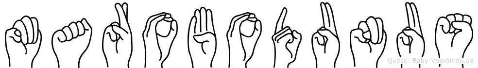 Marobodunus in Fingersprache für Gehörlose