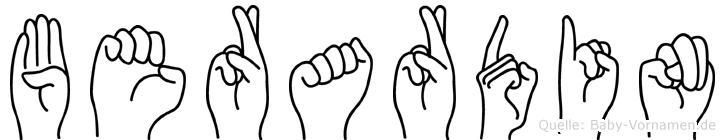 Berardin in Fingersprache für Gehörlose