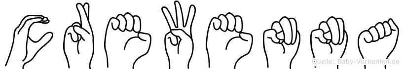 Crewenna in Fingersprache für Gehörlose