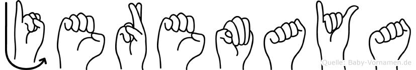 Jeremaya im Fingeralphabet der Deutschen Gebärdensprache