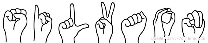 Silvaon im Fingeralphabet der Deutschen Gebärdensprache