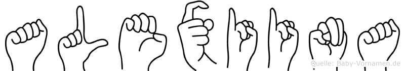 Alexiina im Fingeralphabet der Deutschen Gebärdensprache