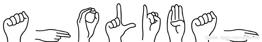Aholibah im Fingeralphabet der Deutschen Gebärdensprache