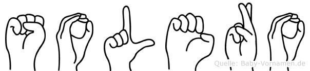 Solero im Fingeralphabet der Deutschen Gebärdensprache